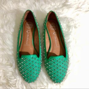 Jeffrey Campbell Martini Spiked Loafers Flats